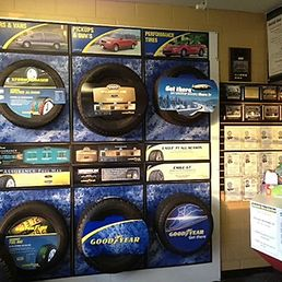 New tires showroom display