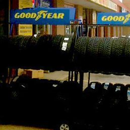 New tires in showroom