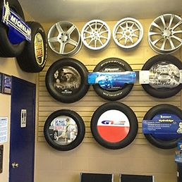 New tires showroom